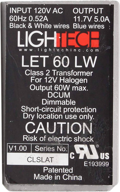 LighTech LET-60-LW Electrical Transformer, 12V 60W MR16 Electronic Low Wattage