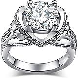 Tête de mort Bague de fiançailles gothique Bijoux imitation diamant Mariage  Bague pour femme