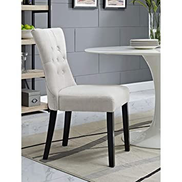 BSD National Supplies Decorium Beige Fabric Upholstered Curved Dining Chair  1 Decorium Beige Upholstered Curved Dining