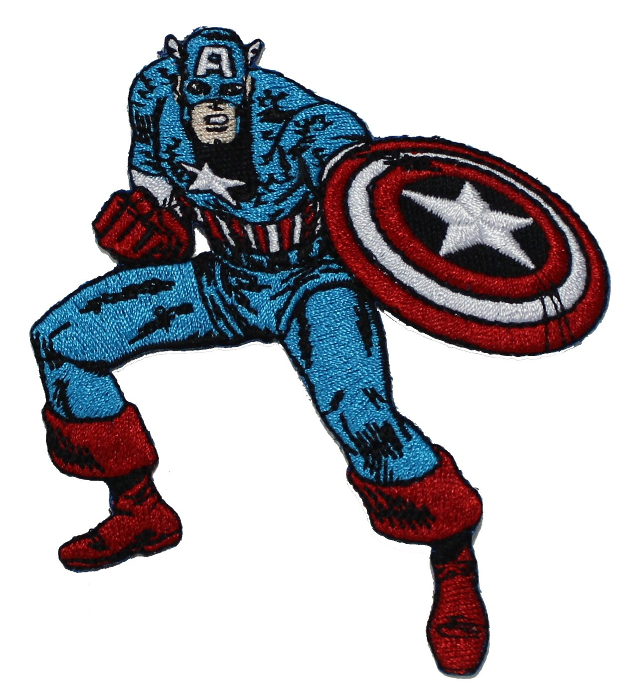 CAPTAIN AMERICA'S PATCH, Officially Licensed Marvel's The Avengers Comic Superhero Artwork, Iron-On / Sew-On, 3.75