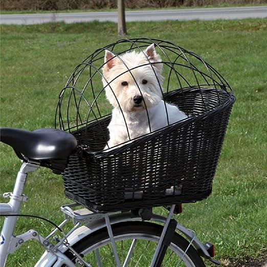 Cesta de mimbre trasera para bicicleta para mascotas: Amazon.es ...