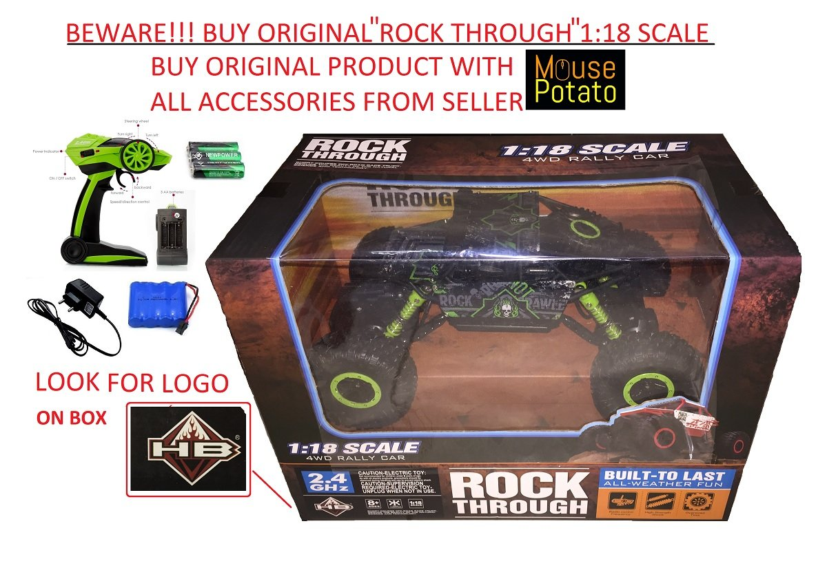 Buy Hb Mousepotato Rock Crawler Off Road Race Monster Truck Green