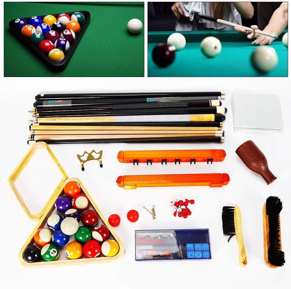 Z&Y Ltd Z&Y 29 Piezas/Juego Billar Snooker Pool Balls Cue Triangle Tiza Billar Accesorios Billar Lleno de Accesorios: Amazon.es: Deportes y aire libre