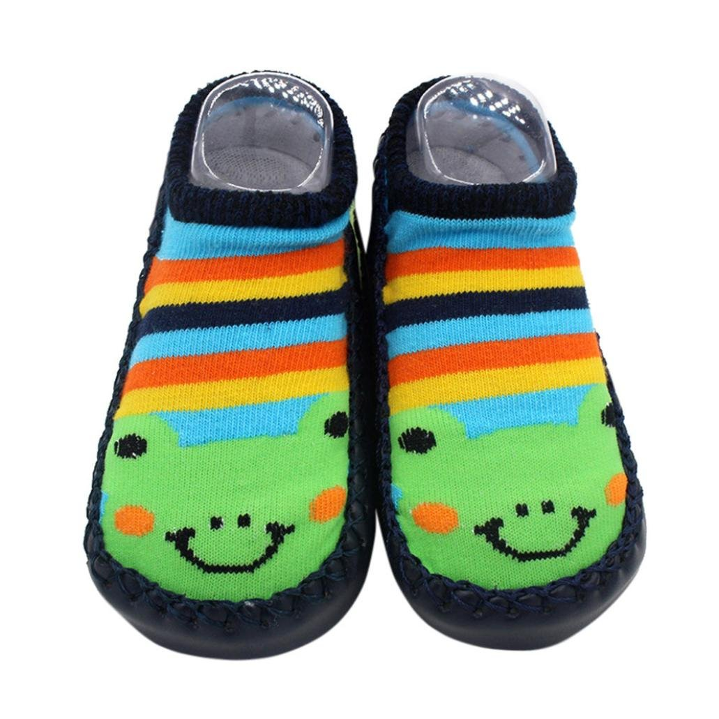 Sunward Unisex Baby Cute Cartoon Kids Toddler Baby Anti-slip Sock Boots Slipper Shoes (12~18 M, multicolor)