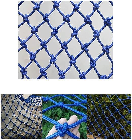 Cubierta de carga Red de seguridad for niños Protector de piscina Escalera resistente A prueba de roturas Red de gatos Azul Balcón Valla de malla Red de malla de 4 mm Cuerda
