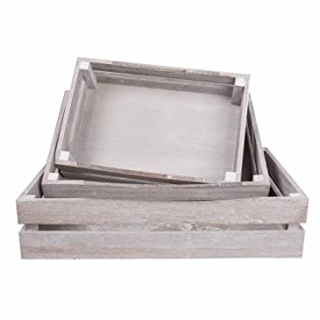 Shallow Wooden Crates Shop Display Shelf Storage Box Christmas Gift Hampers Entire Set