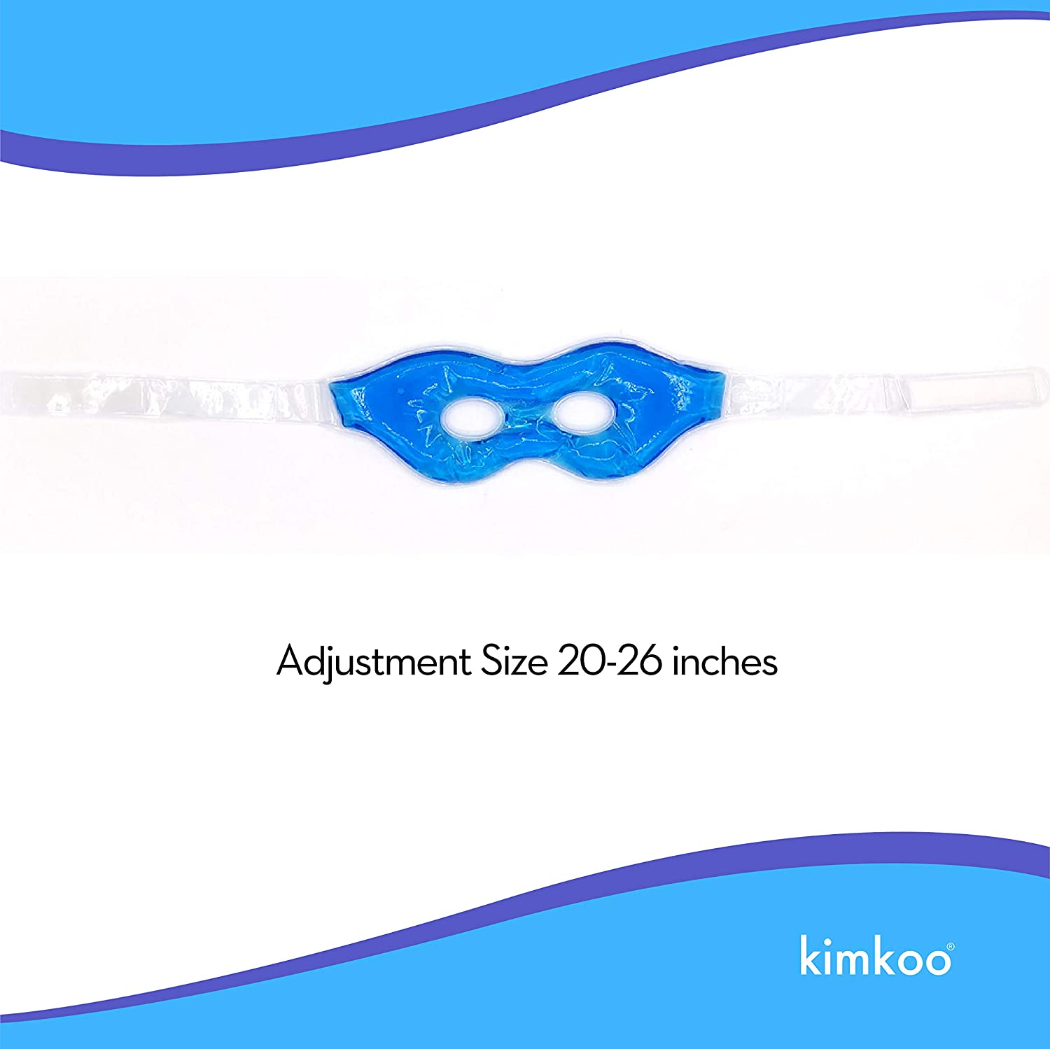 Kimkoo Gel Eye Mask Cold Pads&Cool Compress for Puffy Eyes and Dry Eye,Cooling Eye Ice Masks Gel: Health & Personal Care
