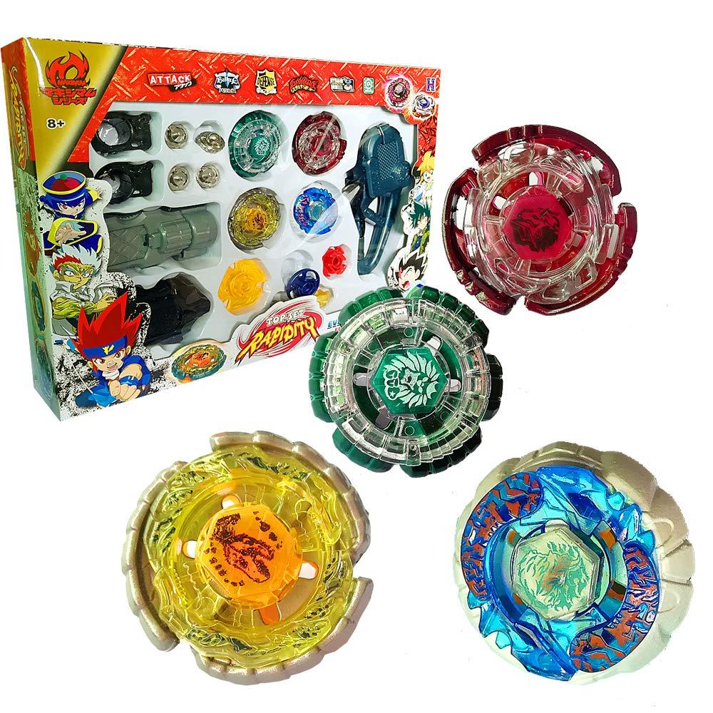 バトリングトップス フュージョンメタルマスターラピディティGyro Toys ファイトレア 4D ランチャーグリップセット B07PSGS1X6