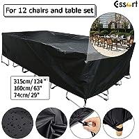 Patio Furniture Covers, Essort Waterproof Rectangular Outdoor Garden Chair Table Cover Protector