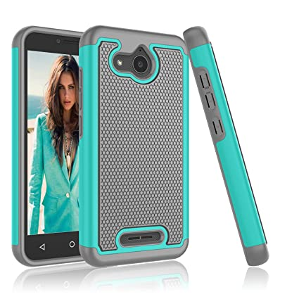 Alcatel Tetra Case, Alcatel Tetra 5041C Case, Njjex [Nveins] Impact Hybrid  Dual Layers Hard Back + Soft Silicone Rubber Armor Defender Shockproof Slim
