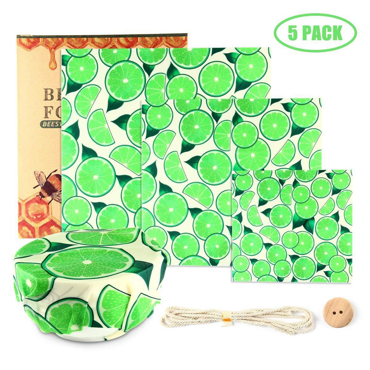 Couvercle Daliments Cir/é Womdee Feuilles demballage Daliments R/éutilisables Paquet De 3 Emballages De Cire dabeille Stockage Daliments pour Enveloppes De Cire Dabeilles
