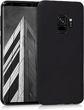 kwmobile Coque Compatible avec Samsung Galaxy S9 - Coque Housse Protectrice pour Téléphone en Silicone Noir Mat