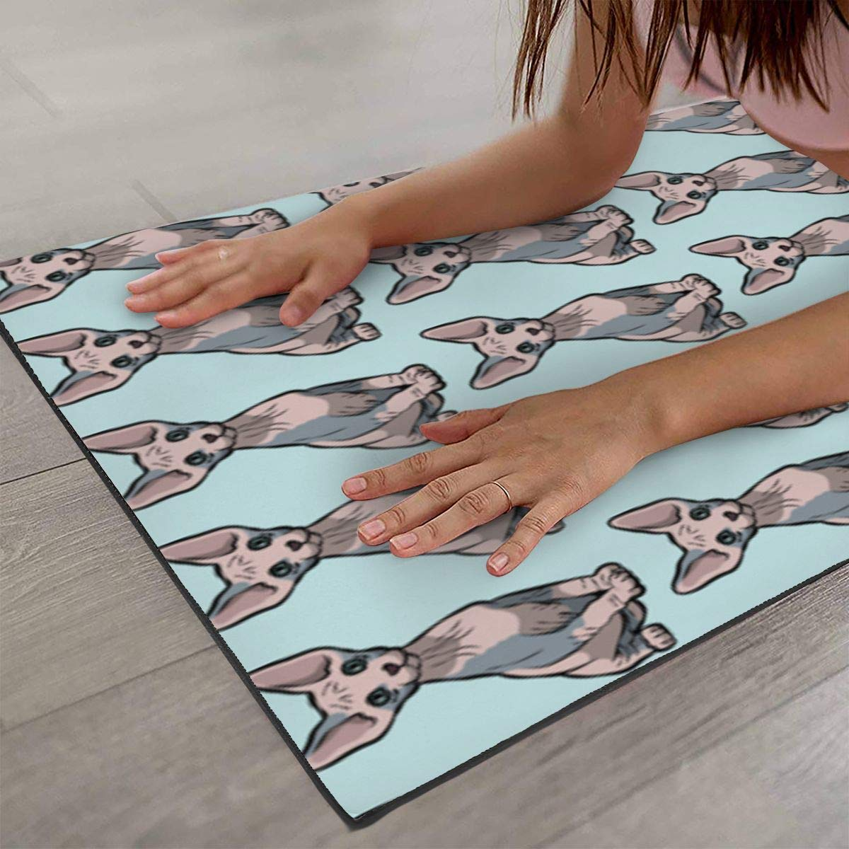 Amazon.com: Sphynx Cat Printed Yoga Mat Prana Yoga Mat ...