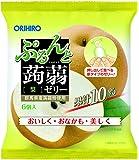 オリヒロプランデュ ぷるんと蒟蒻ゼリーパウチ 梨 20gx6個×6袋