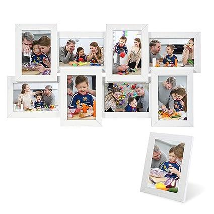 SONGMICS Marcos de fotos 8 fotos (10 x 15 cm) + 1 x Marco de foto ...