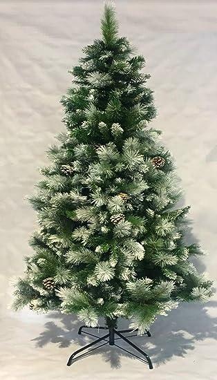 Árbol de Navidad Artificial de Pino Maxi-Relleno árboles C/Soporte metálico 150-240cm (Nevado, 180cm 690Tips): Amazon.es: Hogar