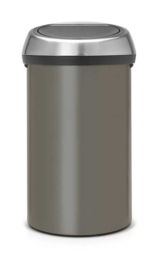 Brabantia Touch Bin 50 Liter Platinum.Brabantia Touch Bin 60 L Platinum