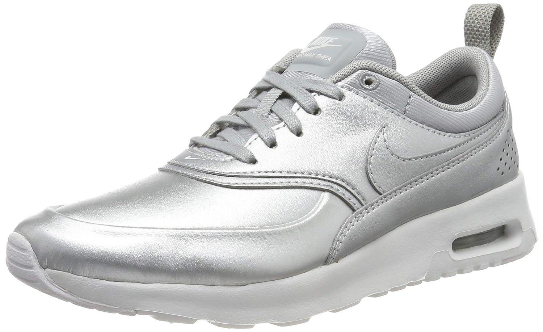 Metallic Silver   Metallic Silver-white Nike Women's Air Max Thea Low-Top Sneakers, Black