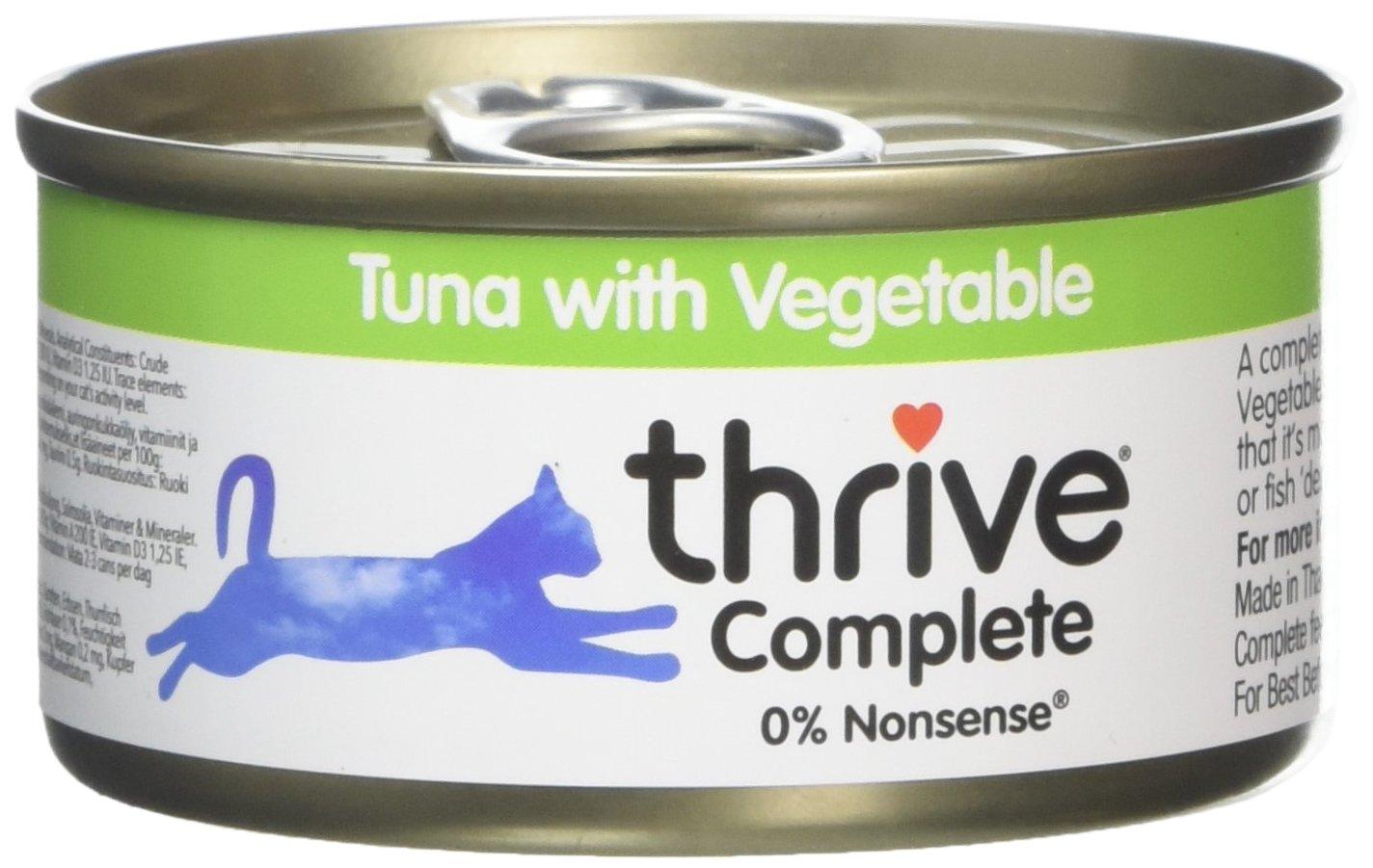 Thrive Complete Nourriture avec Thon/Légumes pour Chat 6 x 75 g THCCF6TV