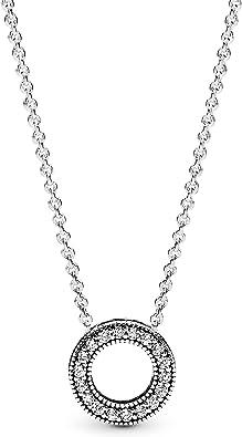 Oferta amazon: Pandora Collar con colgante Mujer plata - 397436CZ-45