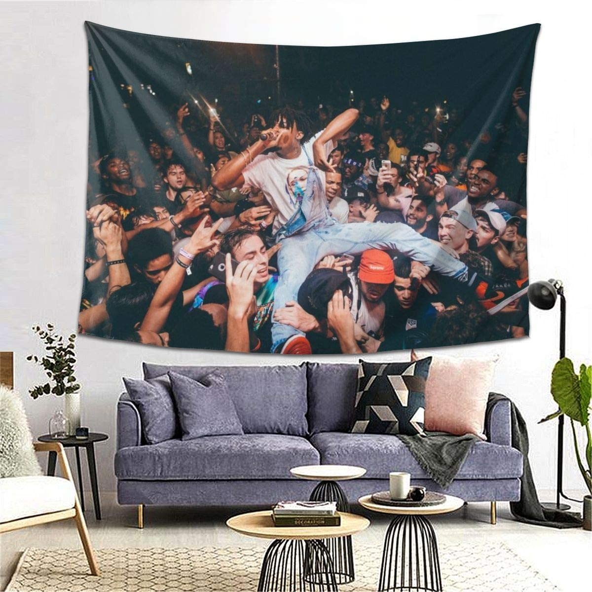 Pla-yboi Ca-rti Fans Tapestry Wall Hanging Tapestries 3D Printing Blanket Wall Art For Living Room Bedroom Home Decor 80×60