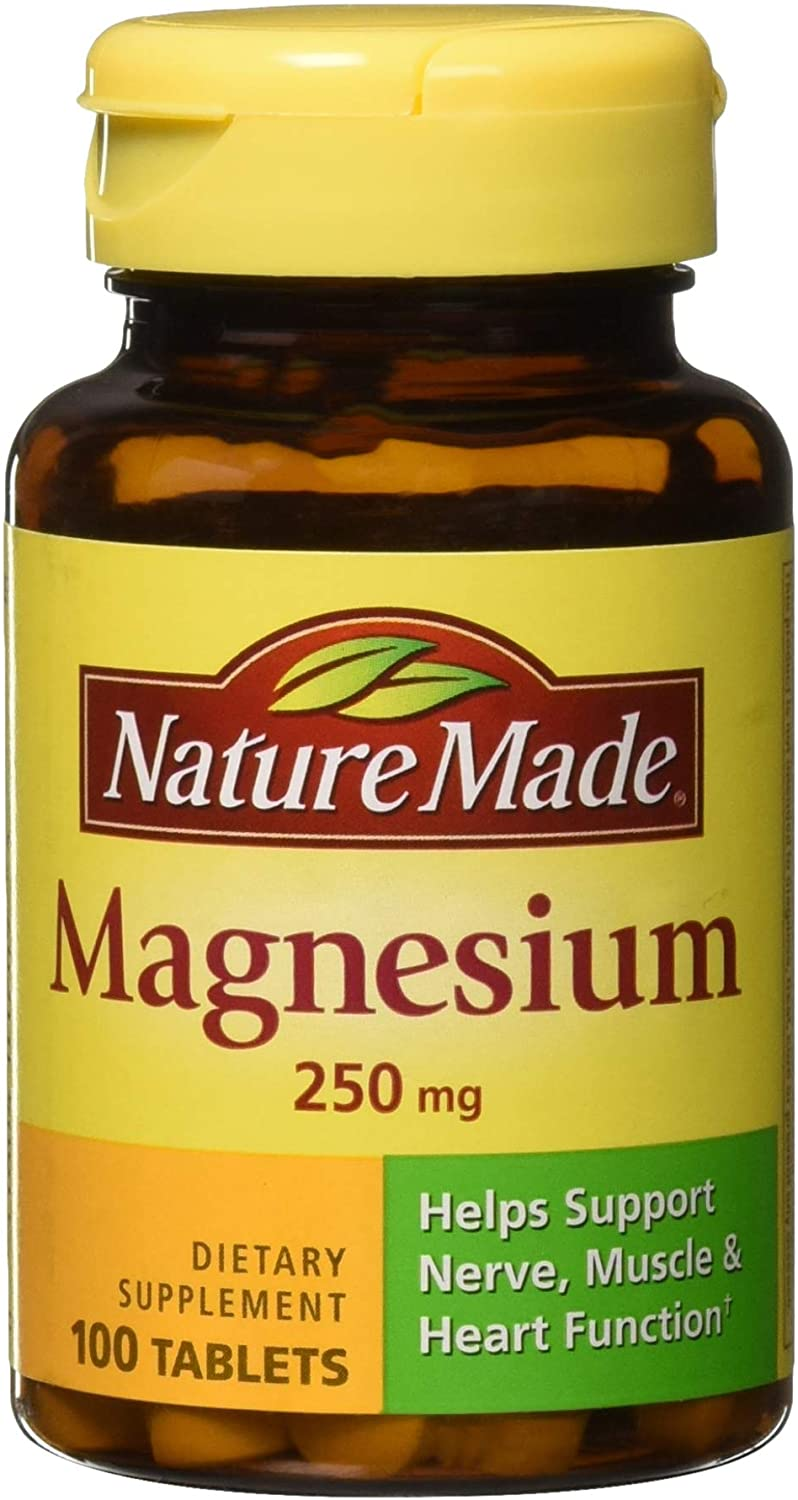 Nature Made Magnesium 250 mg Tablets 100 ea (Pack of 3)