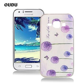 Oudu - Carcasa de Silicona para Samsung Galaxy J1 ...