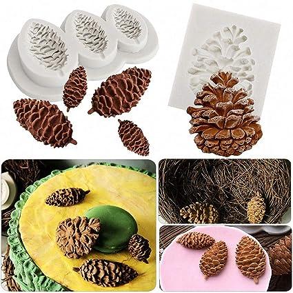 DIY Pine Cone Silicone Mold Fondant Cake Decorating Chocolate Sugarcraft Mould