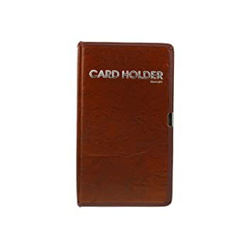 Visitenkartenmappe Visitenkartenbuch Visitenkartensammler Pu Leder Für Geschäftspartner Unternehmer Büro Für 80 Karten Schwarz Braun Rot Braun