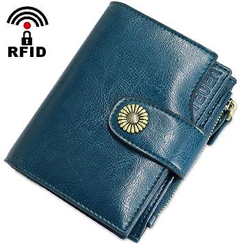 Geldbörse Damen Viele Fächer Kleine Echtleder Damen Portemonnaie Mit