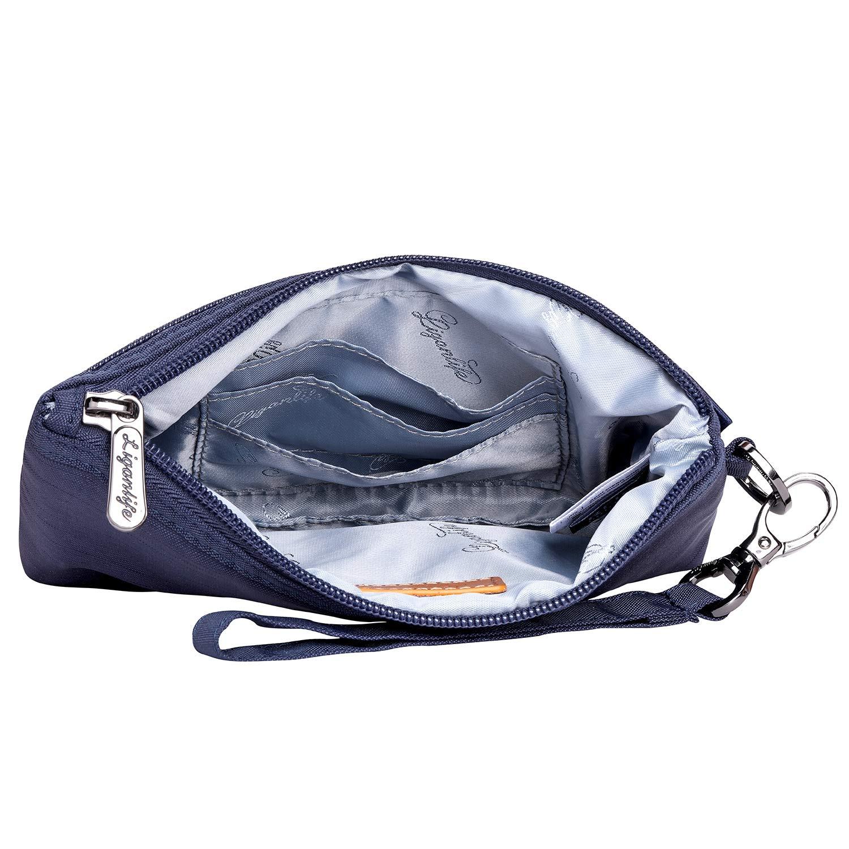 LIGANLIFE Women's Clutch Bag Water Resistant Polyester Wristlet Bag Rfid Protection (Royal blue) by LIGANLIFE (Image #4)