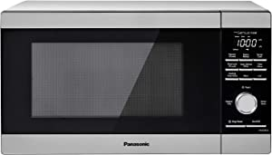 Panasonic NN-SD67LS Countertop Microwave Oven, 1100W with Genius Sensor Cook and Auto Defrost, 1.3 cft, White LED Display
