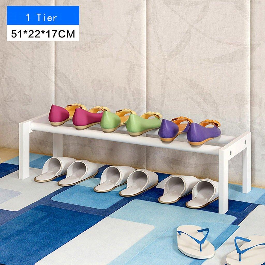 Color White 22 17cm Jxxddq 2 Tier Shoe Rack Shelf Wooden
