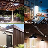 Bemexred Upgraded Solar Pendant Lights with