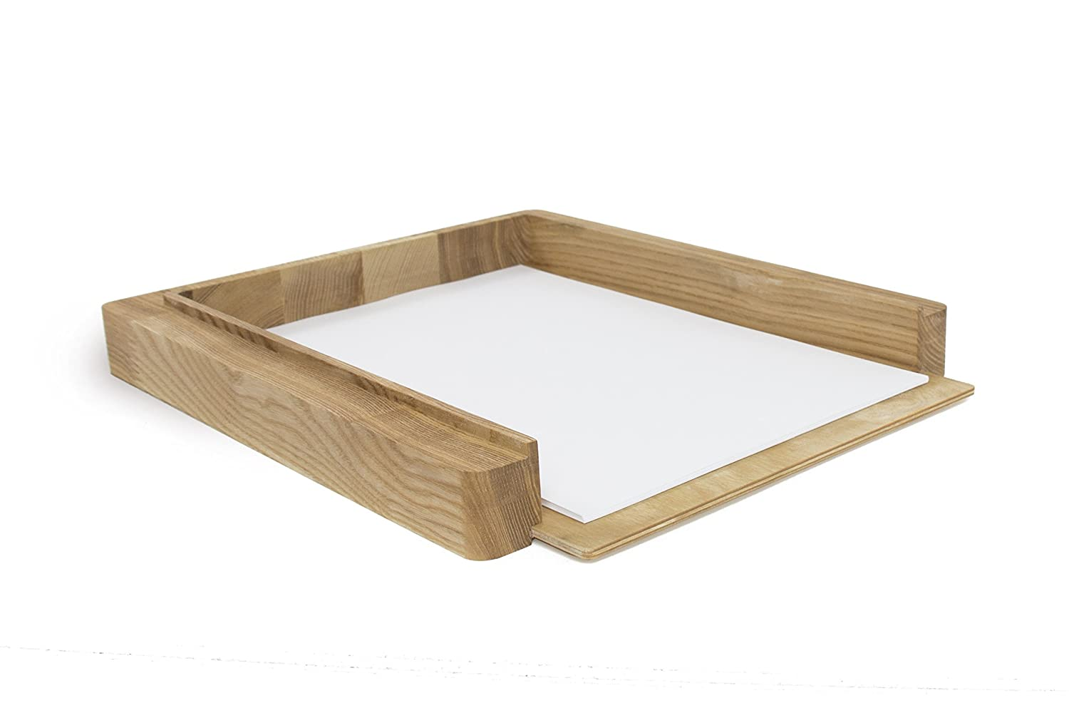 Wooden paper tray - Wooden paper holder - Size 13.5x11.2x1.5