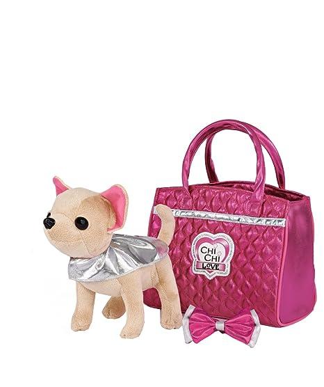 Chi Chi Love - Peluche con bolso, color rosa / plateado (Simba 5892280)