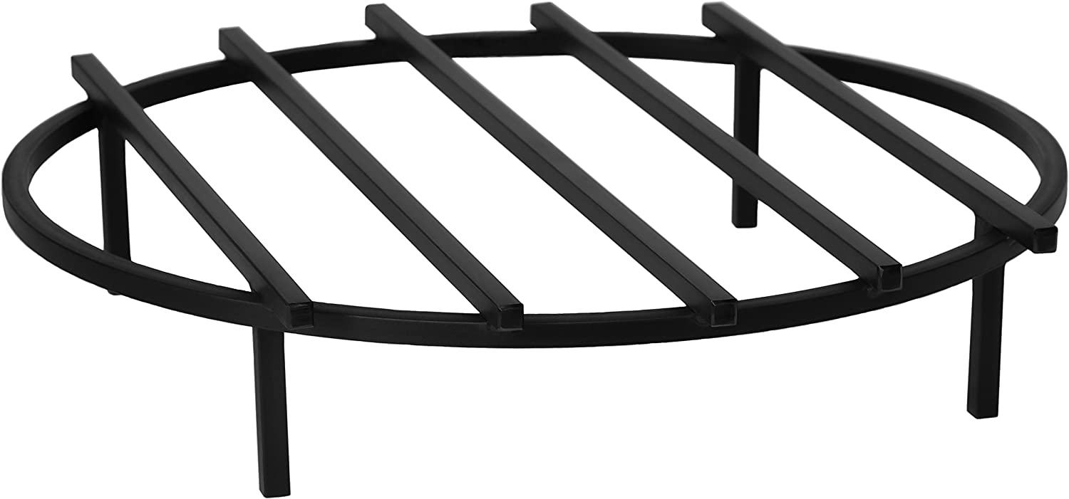 SteelFreak Classic Round Fire Pit Grate, 24 Inch Diameter – Made in The USA