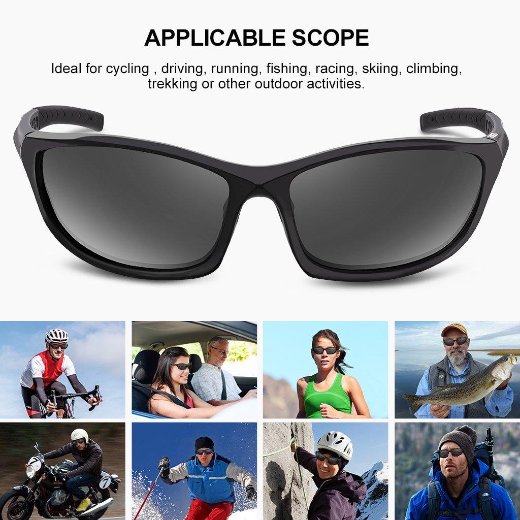 Enkeeo Outdoor Driving Hiking Sunglasses Sonnenbrillen Polarisiert Sportbrille W0Wlc83ubv