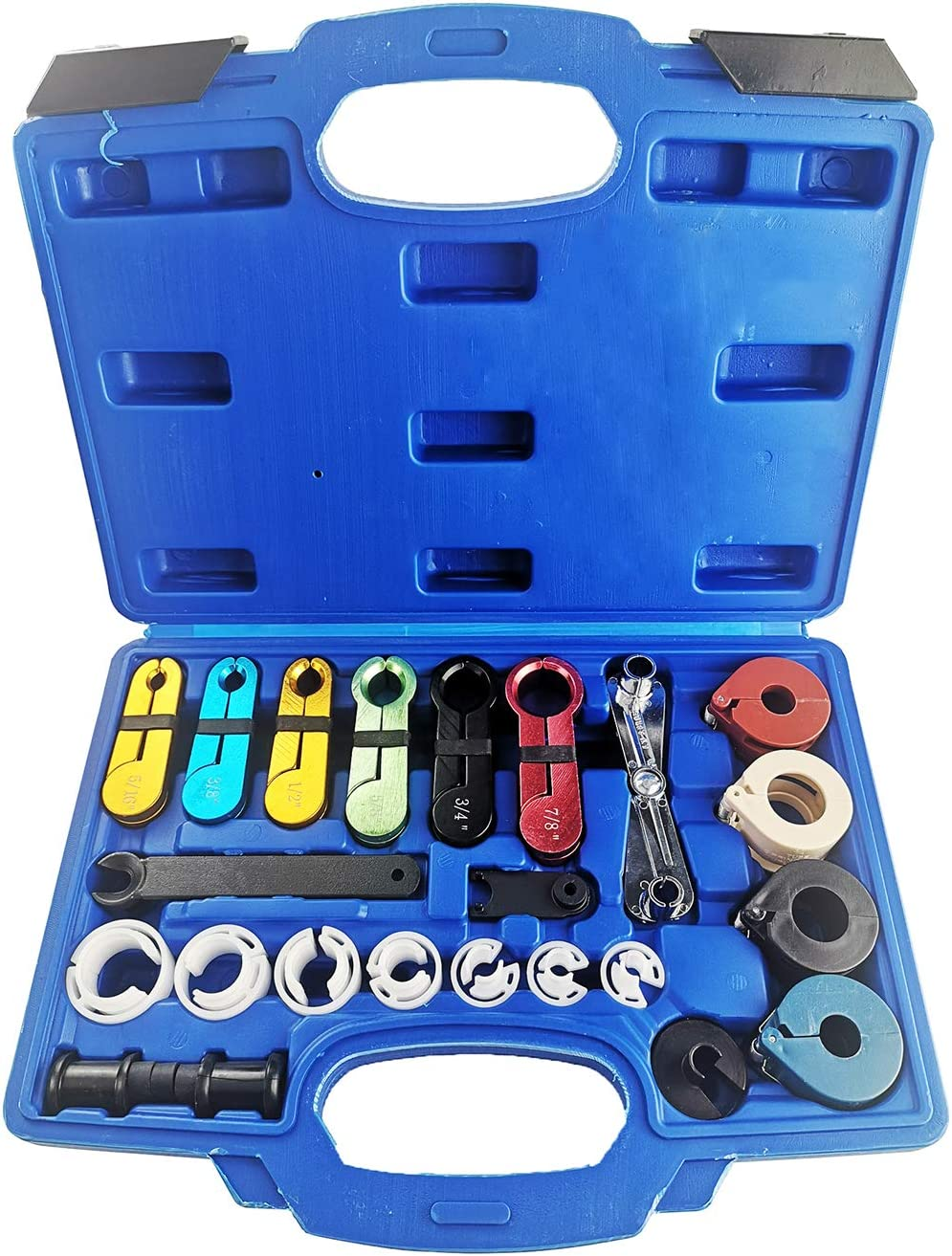 A ABIGAIL 22 PCS Master Quick Disconnect Tool Kit for Fuel Line Automotive Air Conditioner and Transmission Oil Cooler Line