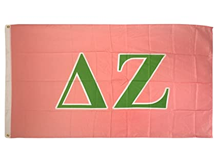 Amazon com : Delta Zeta Letter Sorority Flag Greek Letter