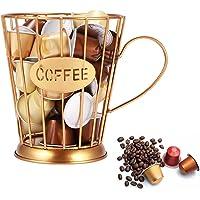 U-HOOME Coffee capsule holder Mug Shape Coffee Pod K Cup Holder Coffee Creamer Container Metal Coffee Holder for Counter…