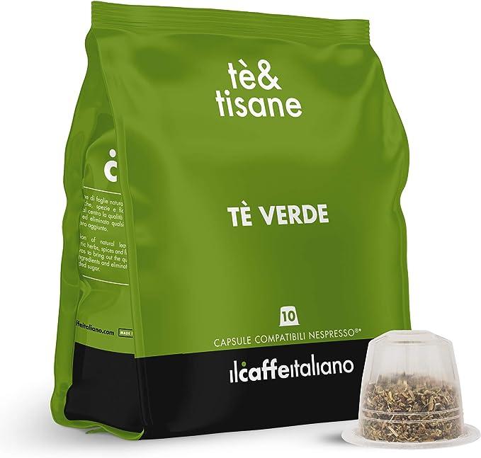 FRHOME - 50 Cápsulas de té compatibles Nespresso - Té verde - Il ...
