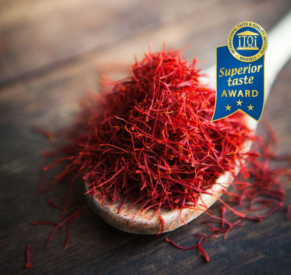Afghan Saffron Threads (Supreme Quality) Recent Harvest - Organically Grown, Non-GMO, Vegan Saffron - Gift Packaging, Airtight Glass Jar (28.3 grams, 1 once) by Redsaff Saffron (Image #1)