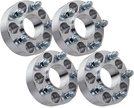 2 Wheel Spacers 5x4.5 with 1//2 Studs for 1984-2001 Cherokee,2002-2012 Liberty,1987-2006 Wrangler YJ TJ GDSMOTU 4pc Hub-Centric Wheel Spacers for Jeep 5 Lug