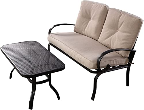Furniture Set 2PC Patio Outdoor LoveSeat Coffee Table Bench