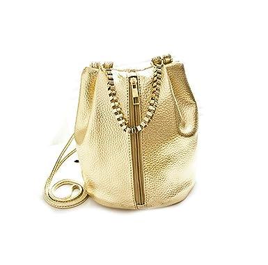 50a584ece85 Di Grazia Women's Sling Potli Bag (Gold,Gold-Bucket-Small-Bag ...