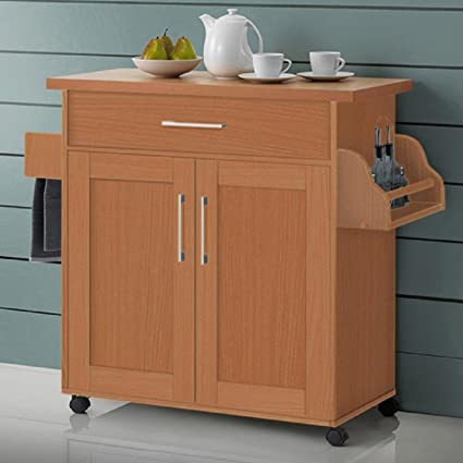 Amazon Com Kitchen Island With Towel Rack Convenient And