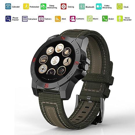 Pinkbenmus - Smart Watch Con Pulsometro / Reloj Deportivo GPS, Cámara remota, Compatible con