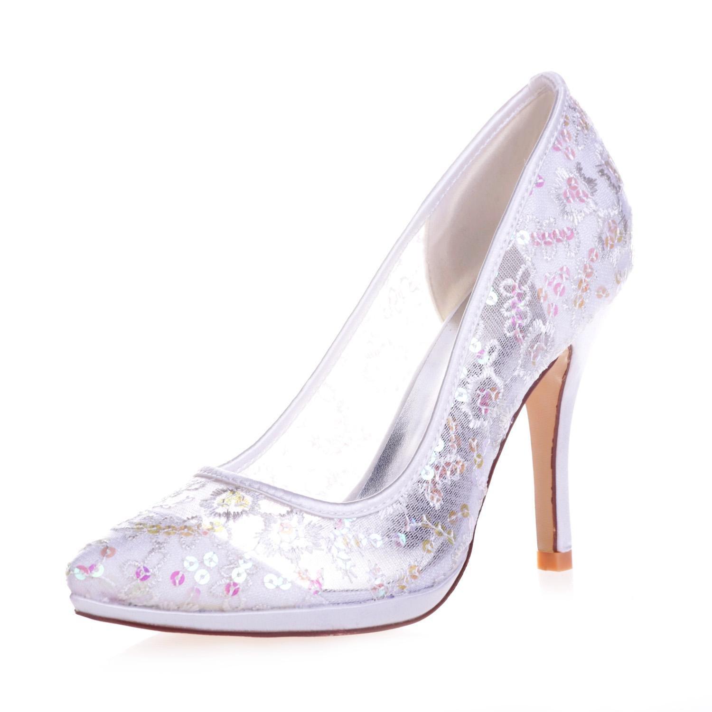 L@YC 0255-32 Weibliche High Heels Geschlossene Zehe Spitzpumps Hochzeit Hochzeit Hochzeit Plattform Satin Gericht Schuhe 351e50