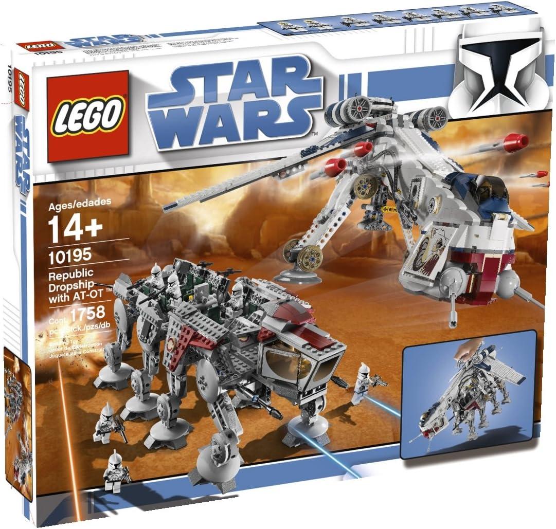 LEGO Star Wars - Republic Dropship con AT-OT Walker, Juguete de ...